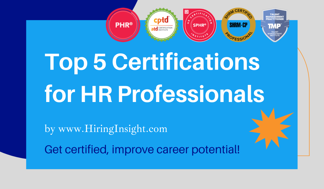 Top 5 Certifications for HR Professionals